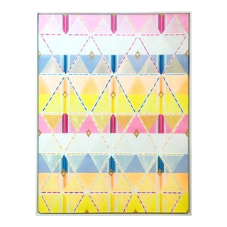 Natasha Mistry Contemporary Geometric Oil Painting For Sale