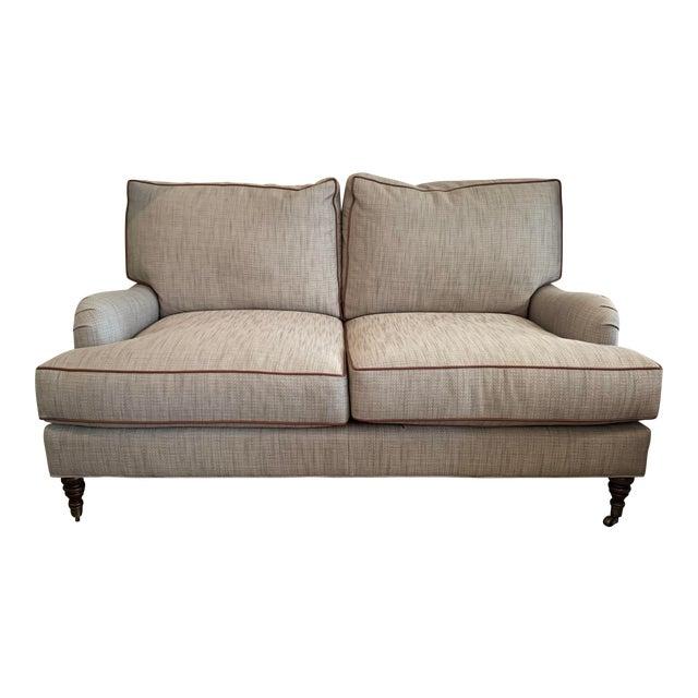 Beige Contemporary English Sofa For Sale