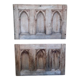 19th Century Gothic Revival Panels - A Pair For Sale