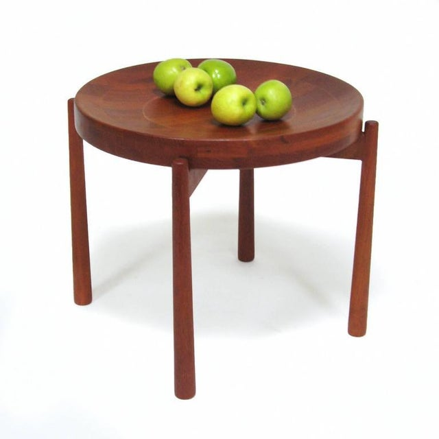Swedish Solid Teak Flip-Top Tables in the Manner of Jens Quistgaard For Sale - Image 10 of 11