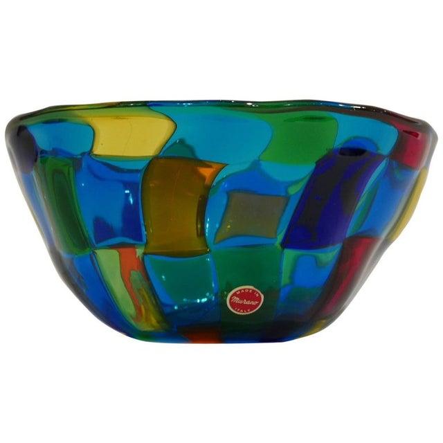 """Italian Italian Vibrant Blue Ballarin Murano Glass """"Pezzatto"""" Bowl Signed W Label For Sale - Image 3 of 9"""