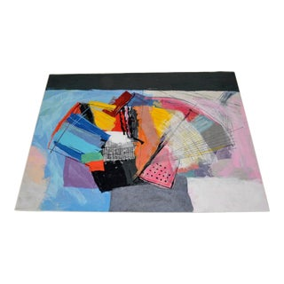 "Calman Shemi Limited Edition ""Abstract"" Tapestry Rug For Sale"
