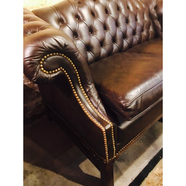 Chesterfield Leather Loveseat - Image 3 of 4