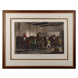 "1844 London ""Thouroughbred Horses"" Fore's Stable Scenes Print"