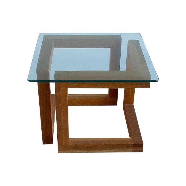 Mid-Century Modern Geometric Side Table - Image 1 of 3