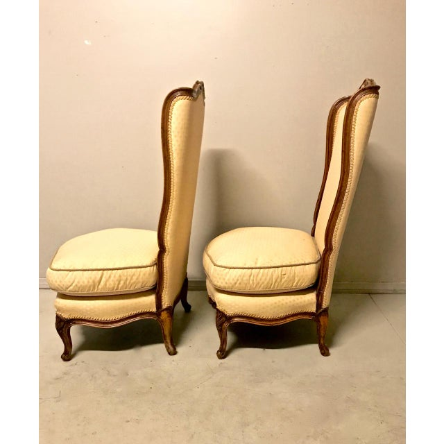 Louis XV-Stye Slipper Chairs or Chauffeuses - a Pair For Sale - Image 4 of 8