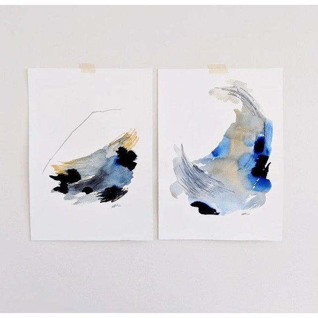 """Transforming Lines Ii"" Original Painting by Ellen Sherman For Sale - Image 4 of 6"