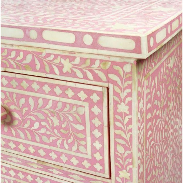 Pink Bone Inlay Dresser - Image 2 of 3