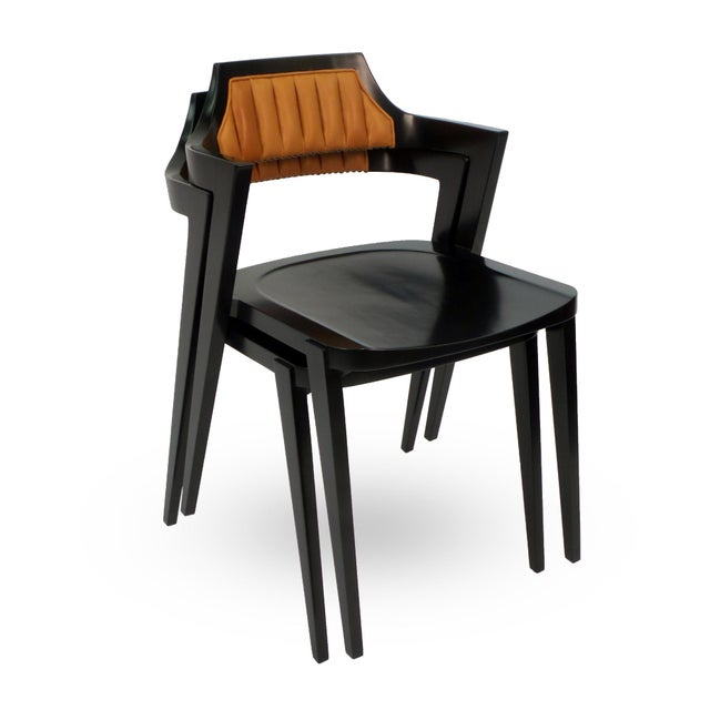 Modern Stacking Armchair For Sale - Image 3 of 8