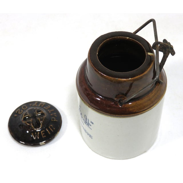 1900 - 1909 Antique American Stoneware Horsh Radish Jar For Sale - Image 5 of 13