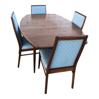 Mid-Century Modern Dillingham Dining Table & 4 Milo Baughman Designed Chairs For Sale