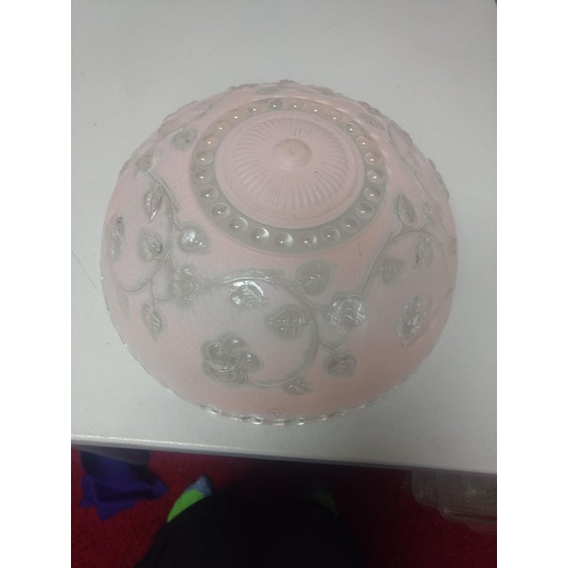 Vintage Pink Pressed Glass Lampshade For Sale In Saint Louis - Image 6 of 7