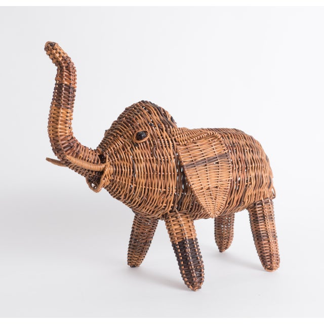 Vintage Wicker Elephant Statue For Sale - Image 13 of 13