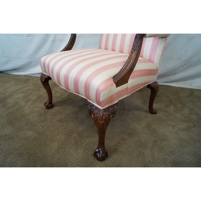 Chippendale Ball & Claw Foot Arm Chair - Image 6 of 10