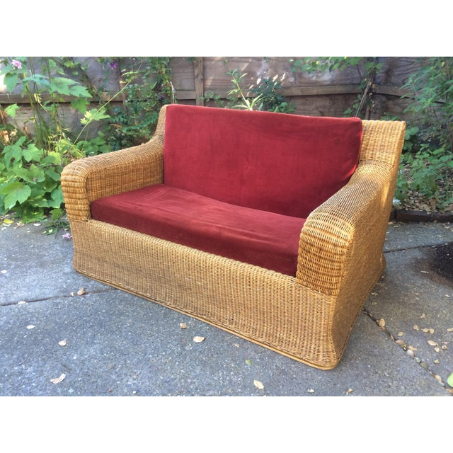 Contemporary 1970s Vintage Scultpural Wicker Seating Set- 5 Pieces For Sale - Image 3 of 13