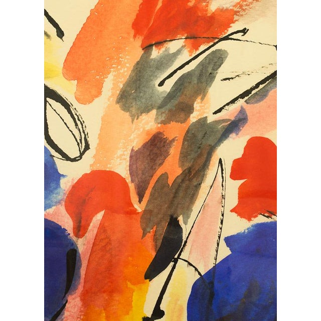 """Abstract """"Blue Notes No. 1"""", Mark Frohman for Dde, Abstract Primary Colors Painting For Sale - Image 3 of 8"""