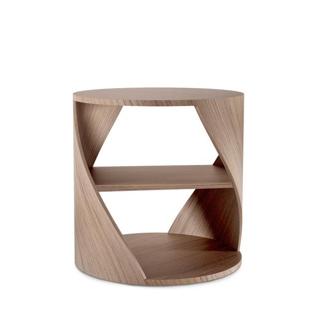 Mydna Walnut Decorative Side Table by Joel Escalona For Sale - Image 6 of 6
