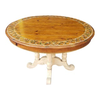 "Country 48"" Diameter Pine Dining Room Table For Sale"