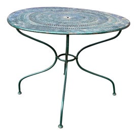 Image of Iron Outdoor Dining Tables