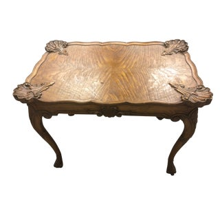 1930's French Walnut Side Table For Sale