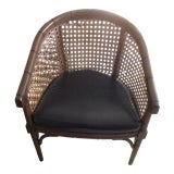Image of 1970s Vintage Cane Back Tub Chair For Sale