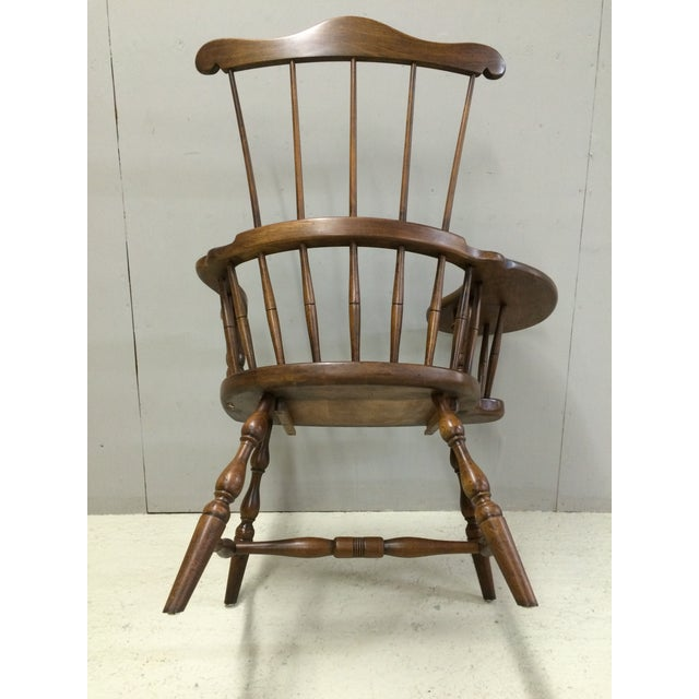 Brown Pennsylvania House Comb Back Windsor Writing Chair For Sale - Image 8 of 10