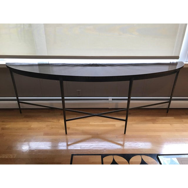 2010s Modern McGuire Demilune Console Table For Sale - Image 5 of 5