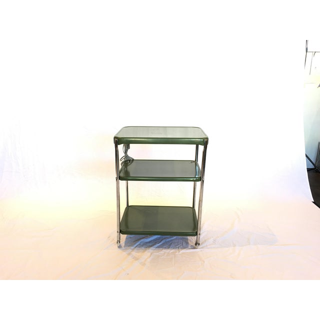 Metal Cosco Rolling Bar Cart - Image 2 of 5