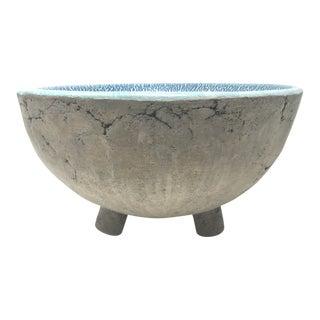 Vintage Stoneware Pottery Decorative Bowl For Sale