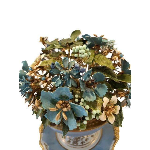 Jane Hutcheson Fleurs Des Siecles in a porcelaine pot. A beautiful presentation of metal flowers.