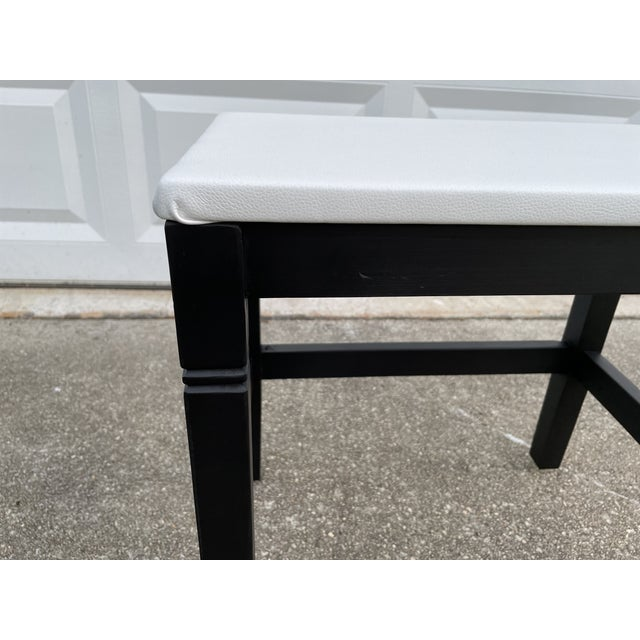Modern 1980s Vinyl Leather Wrapped Top Side Table For Sale - Image 3 of 10
