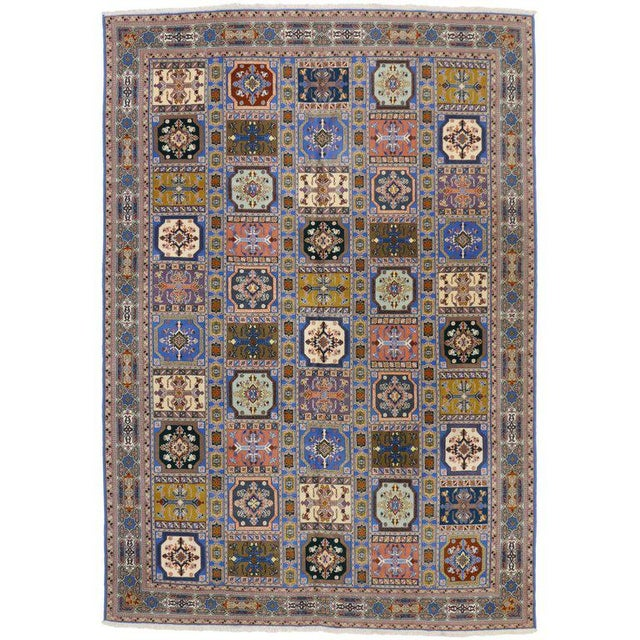 Rabat Moroccan Rug With Compartment Design - For Sale - Image 9 of 9