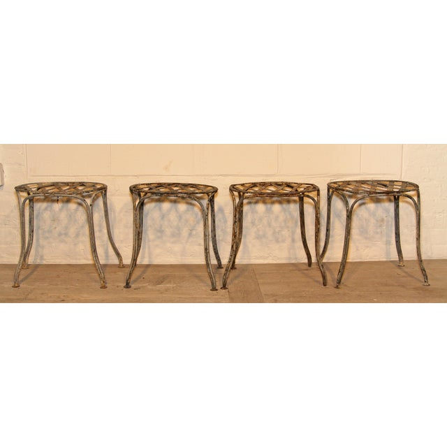 1920s 1920s French Garden Stools - Set of 4 For Sale - Image 5 of 5