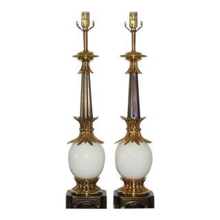 Stiffel Ostrich Egg Lamps 1950s For Sale