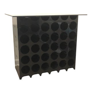 Mid-Century Wine Rack or Side Table For Sale