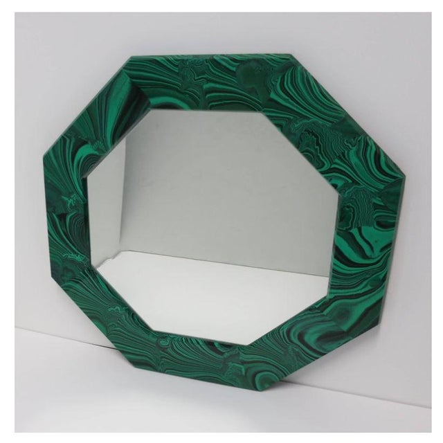 Green Malachite Octagonol Wall Mirror For Sale - Image 12 of 13