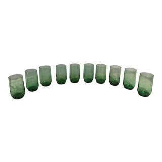 Green Tumblers -Set of 10 For Sale