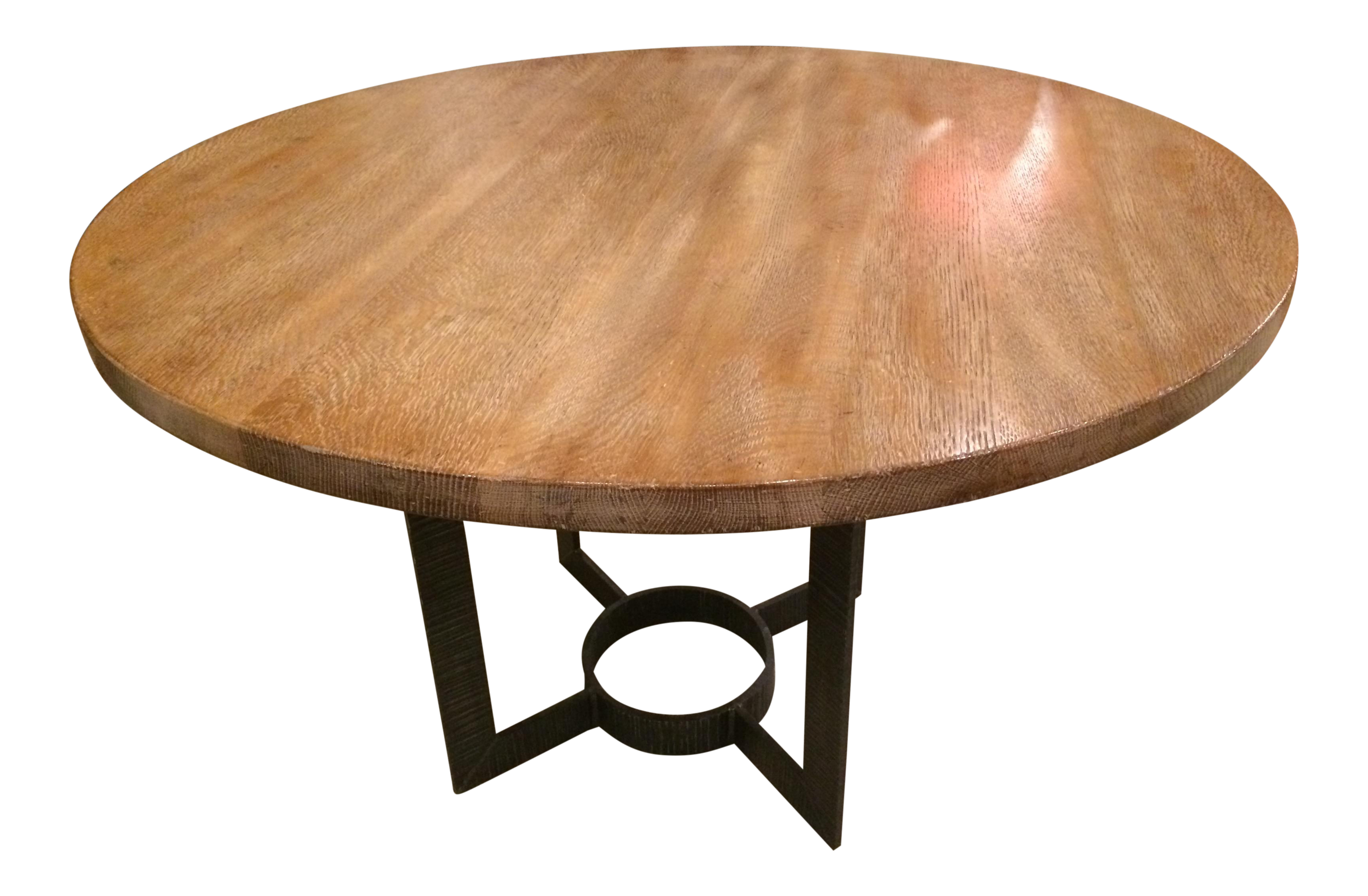 Wright Table Company Cerused Oak Dining Table