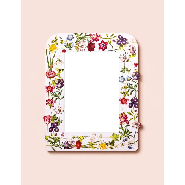 Contemporary Fleur Home x Chairish Liz Marsh Floral Sprinkle Mirror For Sale - Image 3 of 4