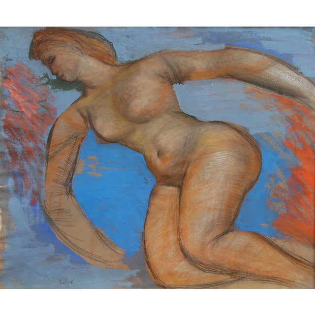 Mid-Century Modern Josef Presser Nude Painting For Sale - Image 3 of 3