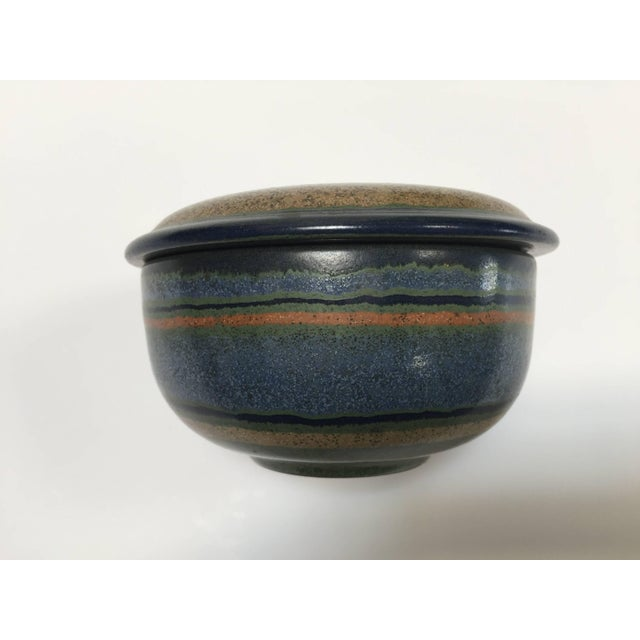Hand-Painted Lidded German Ceramic Bowl by Kmk For Sale In Los Angeles - Image 6 of 7