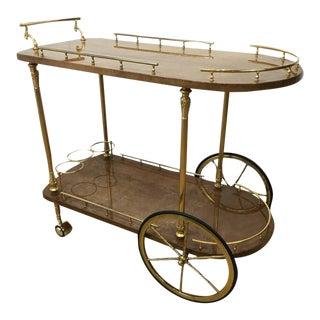 Aldo Tura Goatskin Bar Cart For Sale