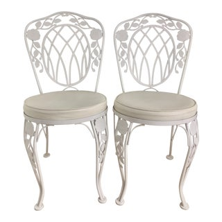 Vintage Meadowcraft Bistro Chairs - a Pair For Sale