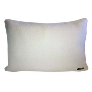 Mineral Blue Silk Velvet Ikat Lumbar Pillow Preview