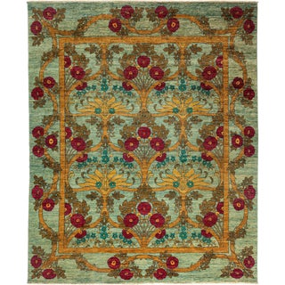 """Arts & Crafts Hand Knotted Area Rug - 8' 0"""" X 9' 8"""" For Sale"""