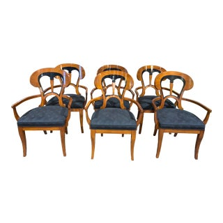 John Widdicomb Curved Top Chairs - Set of 6 For Sale