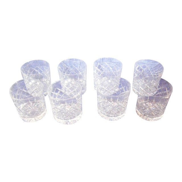 Cartier Cut-Crystal Rocks Tumblers - Set of 8 For Sale
