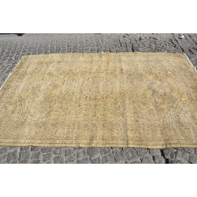Distressed Turkish Rug - 3′9″ × 9′2″ For Sale - Image 4 of 6