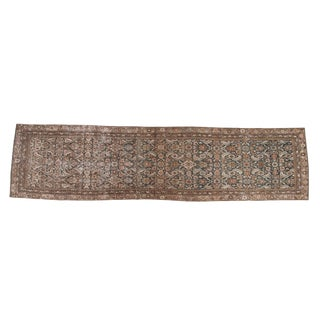 "Vintage Distressed Malayer Rug Runner - 2'11"" X 11'7"" For Sale"