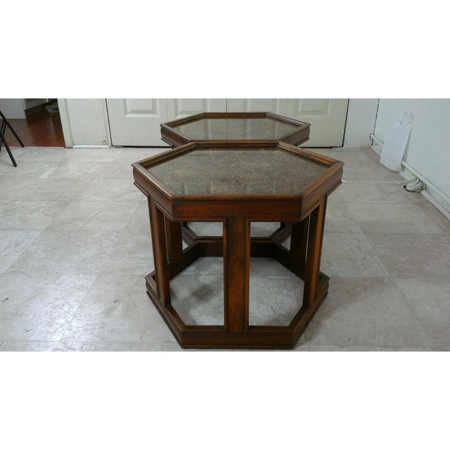 Brown 1960s Mid-Century Modern Brown and Saltman End Tables - a Pair For Sale - Image 8 of 12
